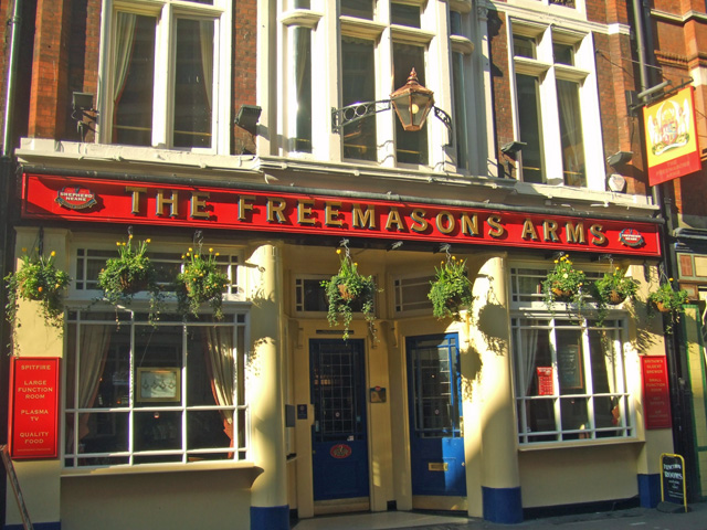 Freemasons arms where the football association was founded.