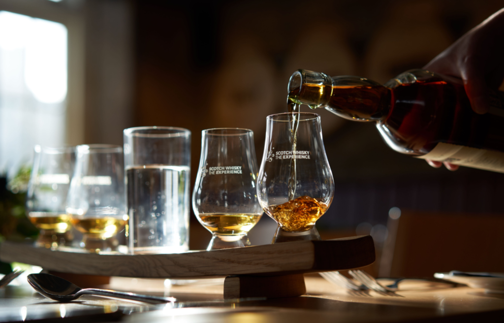 whisky being poured