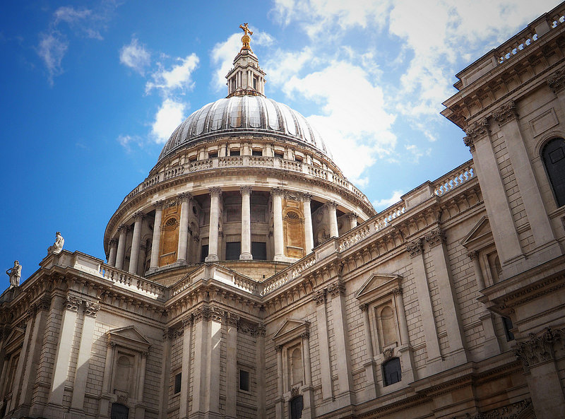 St. Pauls Catherdal from a low angle London